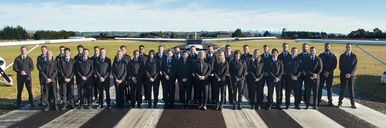 Flight training students